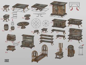 Dwemer furnitures by lukkar