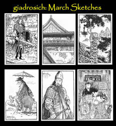 March Sketches by giadrosich