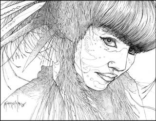 Wise as a Serpent: WiP Finished Pencil by giadrosich