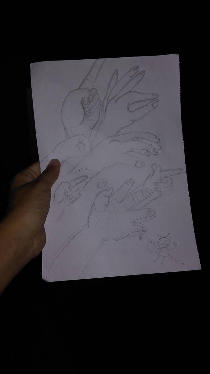 Hand training by bubblegumyy