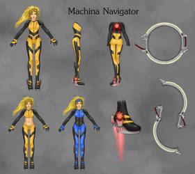 Rikku Machina Navigator by Ethanael