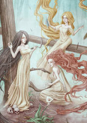 The Three Norns by Ethanael