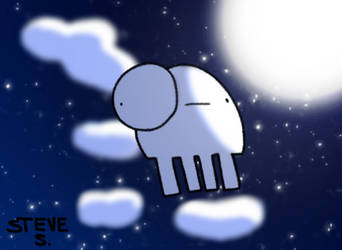 NoBrain in the Night sky by PLPXPP