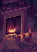 Eevee House - Flareon by Pombei