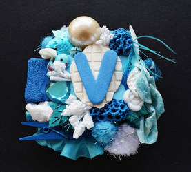 V initial canvas by RibbonsandClay