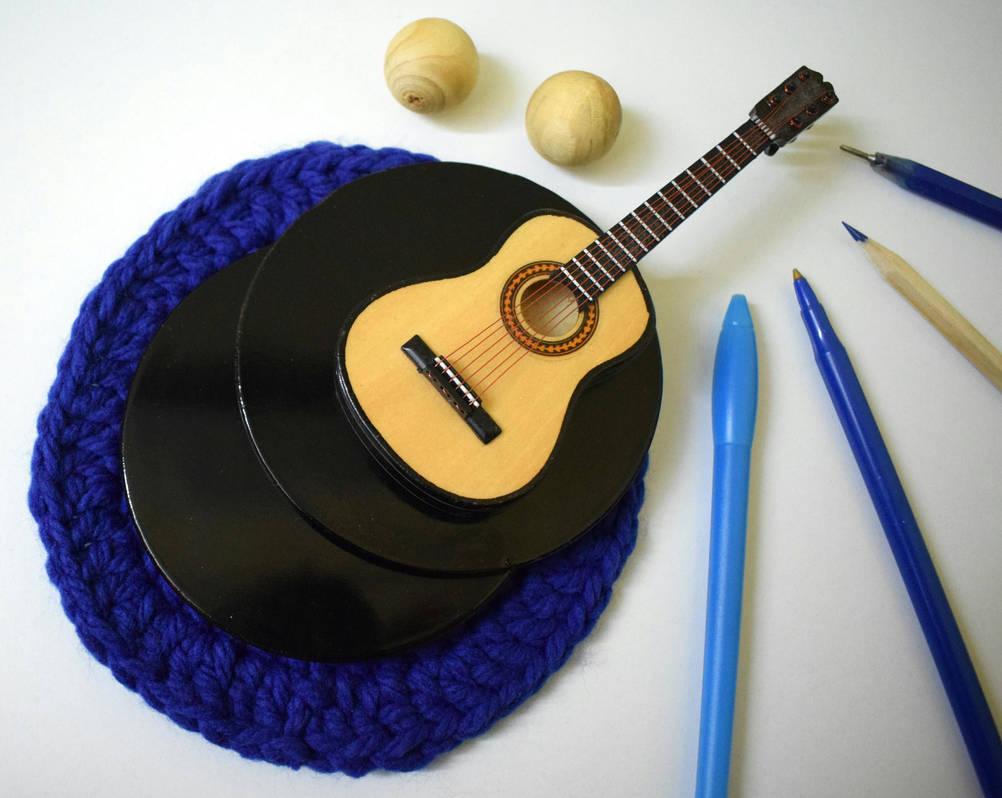 Handmade blue crochet doily by RibbonsandClay