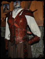 archer female leather armor by Lagueuse