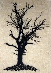 Papercut tree by Carpe-argillum