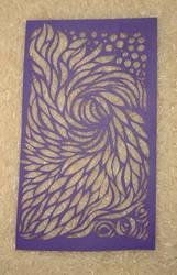 Swirly Purple Papercut Thing by Carpe-argillum