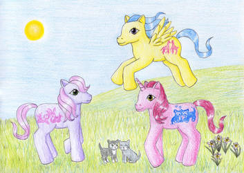 Happy Tails Ponies by NormaLeeInsane