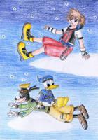 Sora Donald Goofy by NormaLeeInsane