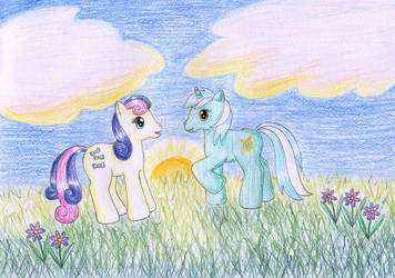 Sweetie Drops and Lyra Heartstrings by NormaLeeInsane