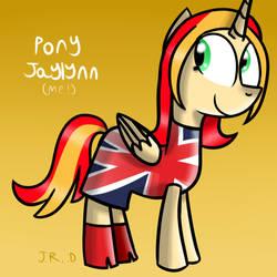 Day 24 - Pony Jaylynn as Ginger Spice by TechnoPonyWardrobeDA