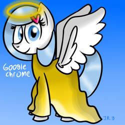 Day 27 - Chrome as an angel by TechnoPonyWardrobeDA