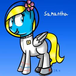 Day 31 - Samantha as Sandy Cheeks by TechnoPonyWardrobeDA