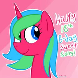 Happy Birthday, Sweet Song! (+ speedpaint) by TechnoPonyWardrobeDA