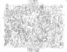 HELLBOY 20 YEARS PENCILS by future-parker