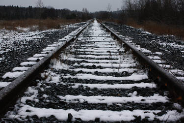 Snow covered railroad by blueangel676