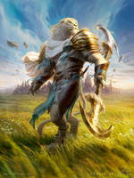 MtG Ajani, Valiant Protector by depingo