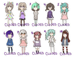 (CLOSED) female adopts!! by kushihonda