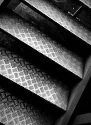 Checkerplate Stairs by MzSquishee