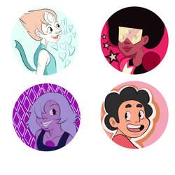 Steven Universe button designs by marquerbun