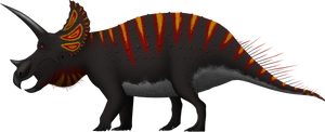 Triceratops horridus by SpinoInWonderland