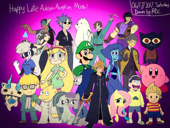 Late Autism Acceptance Month Drawing by Fester1124