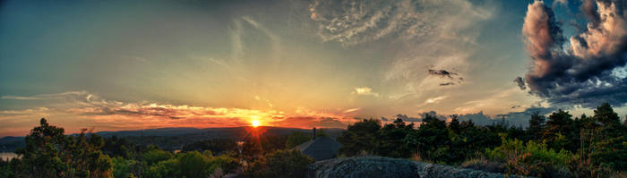 Sunset HDR Panorama by scwl