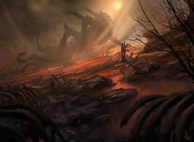 Magic the Gathering - Disaster Radius by JamesPaick
