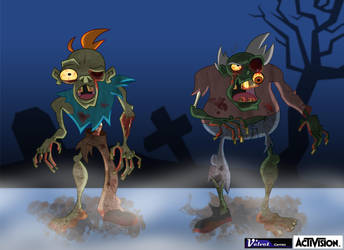 Two Zombie Concepts by l3rokeneye