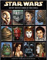 Star Wars Sketch Cards by Erik-Maell