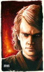 Anakin on Mustafar by Erik-Maell