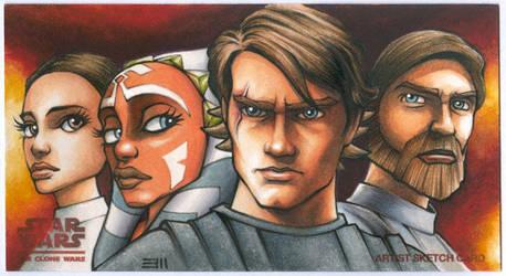 Clone Wars WideVision Sketch Card by Erik-Maell