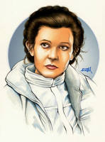 Princess Leia Commissioned Painting by Erik-Maell