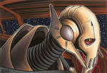 General Grievous 2-Card SketchCard Puzzle by Erik-Maell
