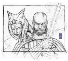 Anakin and Ahsoka - Concept Sketch by Erik-Maell