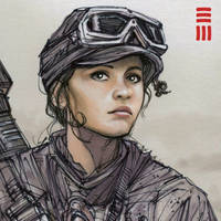 Rogue One - Jyn Erso Sketch by Erik-Maell