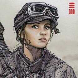 Rogue One - Jyn Erso Sketch by Erik-Maell