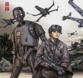 Rogue One - Scarif sketch by Erik-Maell