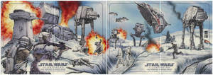 Battle of Hoth Artist Proofs by Erik-Maell
