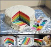 rainbow cake by ruda-kun
