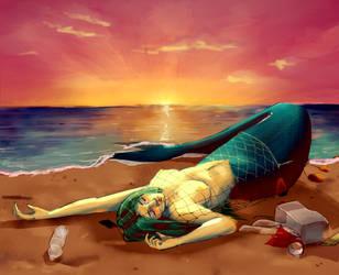 Plastic ocean by IDeathhoundI