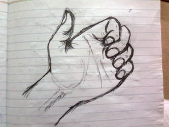 Left Hand: Quick Sketch 1 by Shabihu