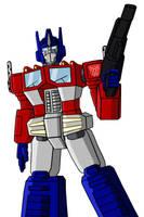 Optimus Prime by mmcfacialhair