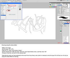 Drawing With The Stroke Tool In Photoshop by JohnoftheNorth