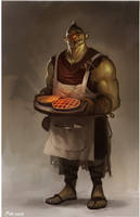 Orc Waiter by JohnoftheNorth