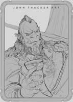 Orc Captain by JohnoftheNorth