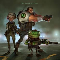 Monster Patrol by JohnoftheNorth