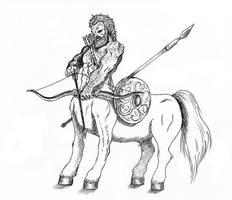 Centaur sketch by Valerian13